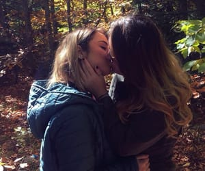 femme, gay, and kissing image