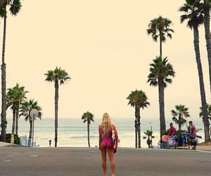 board, girl, and surflife image