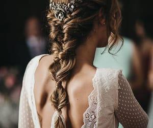 hairstyle, wedding, and photo image