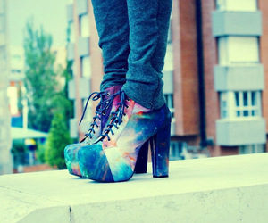shoes, galaxy, and style image