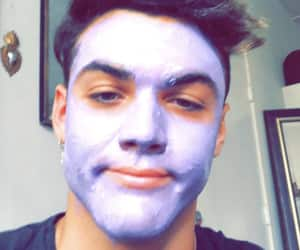face mask, purple face, and he's so weird image
