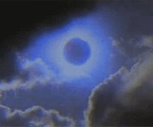 blue, clouds, and gif image
