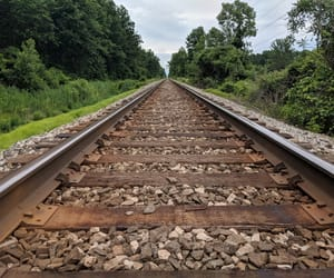 train tracks and railroads image