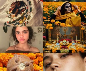 aesthetic, dia de muertos, and flowers image