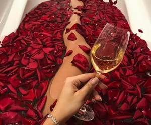 rose, red, and bath image