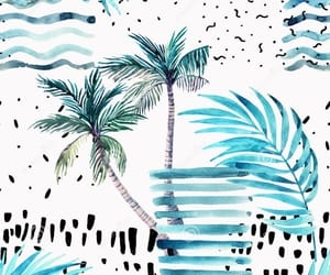 background, blue, and palm tree image