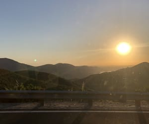 mountains, sunset, and travel image