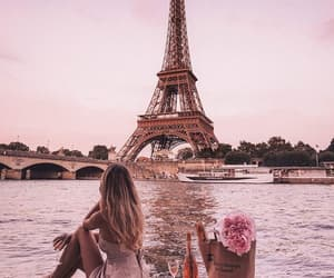 Eifel, girl, and paris image