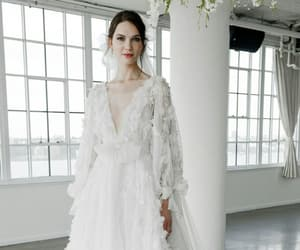 Marchesa, wedding dress, and wedding image