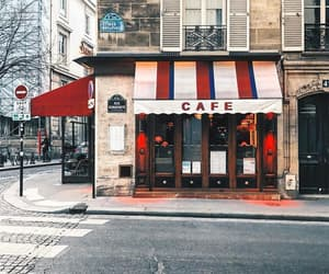 cafe, street, and city image