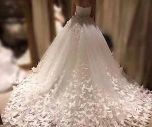 wedding dress, bridal dress, and sleeveless wedding dress image
