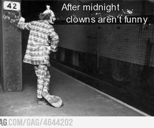 clown, funny, and midnight image