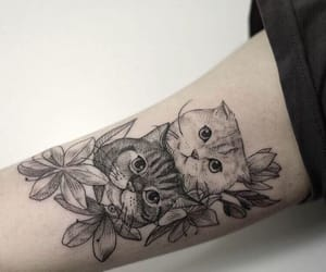 tattoo, art, and cats image