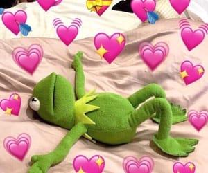 meme, kermit, and hearts image
