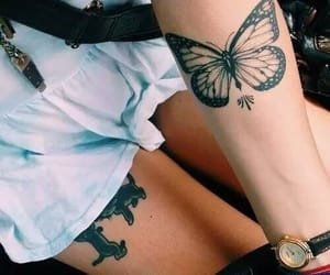 art, butterfly, and ink image