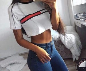 fashion, tommy hilfiger, and outfit image
