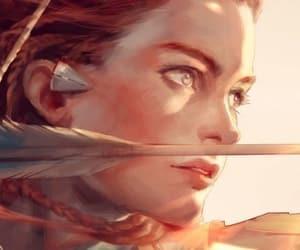 doppleganger, aloy horizon zero dawn, and redhead hunter archer image