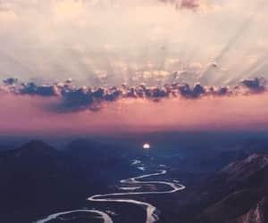 landscape, river, and sunset image