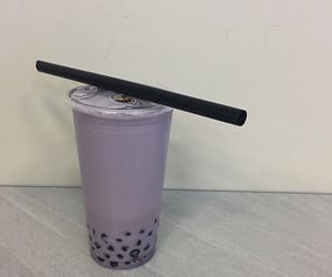aesthetic, purple, and bubble tea image