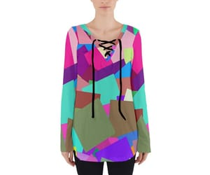 abstract, blouse, and women fashion image