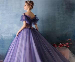 dress, purple, and princess image