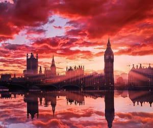 london, city, and orange image