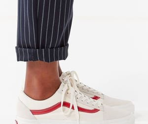 red, vans, and white vans image