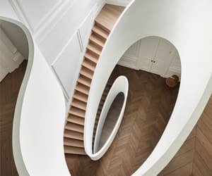 interior, home, and staircase image