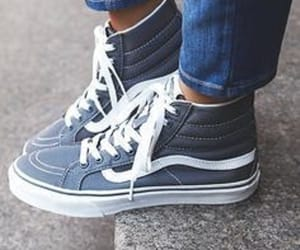 blue, old skool, and vans image