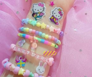aesthetic, hello kitty, and pastel image