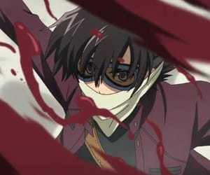 anime, red, and mirai nikki image