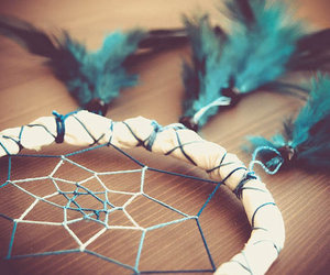 Dream, blue, and dreamcatcher image