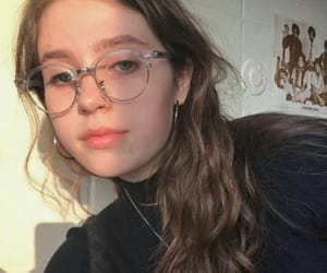 girl, clairo, and glasses image