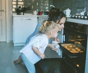 cooking, dad, and mom image