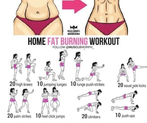 abs, slim waist, and work hard image