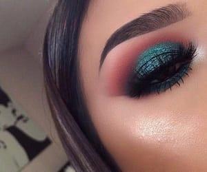 eyebrows, eyeshadow, and makeup image