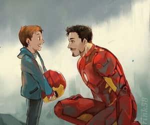 Marvel, iron man, and spiderman image