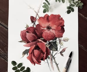 drawings and flowers image