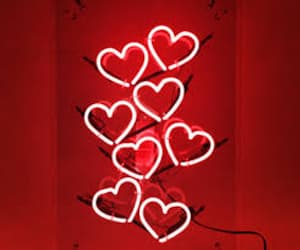 neon, light, and hearts image