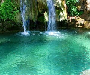 waterfall, Greece, and summer image