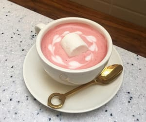 pink, drink, and coffee image