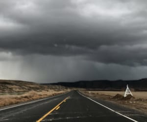 clouds, roads, and storm image
