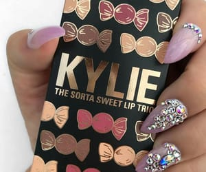 make up, kylie cosmetics, and nails image