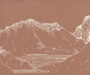 art, mountains, and aesthetic image