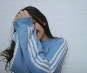 girl, adidas, and blue image