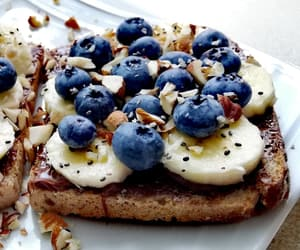 almonds, blueberries, and nutella image