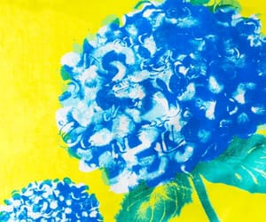 art, blue, and florals image