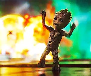 Avengers, guardiansofthegalaxy, and baby groot image