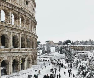 snow, city, and italy image