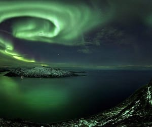beautiful, landscape, and northernlights image